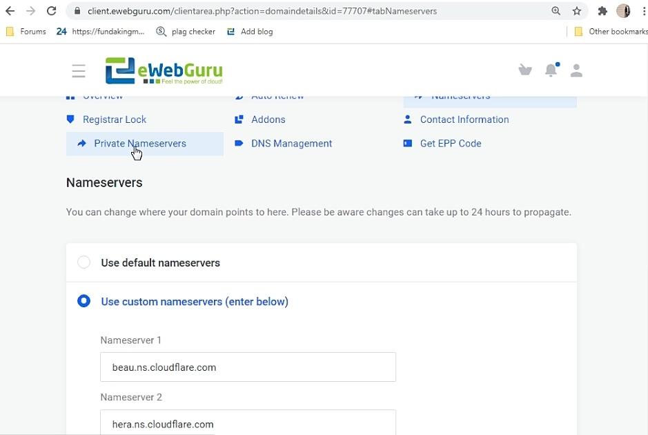 How to Create The Private Nameservers in Ewebguru Reseller Account 5